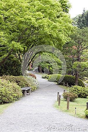 Beautiful garden path in Japanese Garden