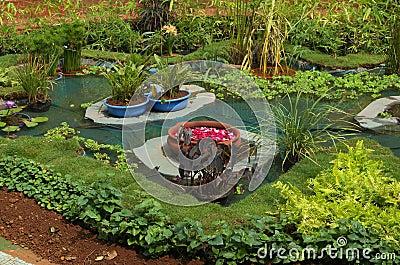 Beautiful garden scene
