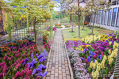 Beautiful garden at spring, Taman Botani Negara Shah Alam, Malaysia Stock Photo