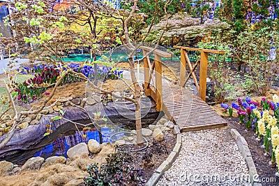 Beautiful garden at spring, Taman Botani Negara Shah Alam, Malaysia Stock Photo