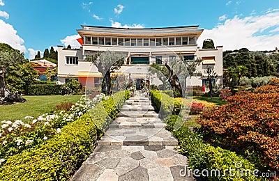 Beautiful garden of a villa