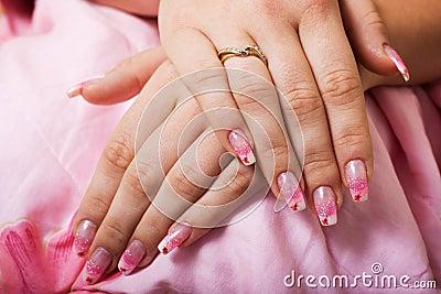 Beautiful gel nails.