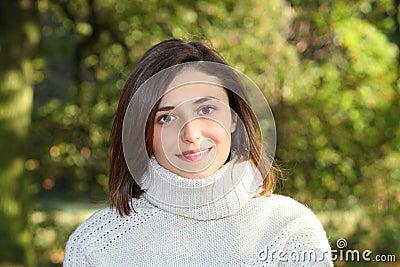 Beautiful gentle young woman