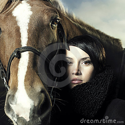 Free Beautiful Girl And Horse Stock Photo - 16665130