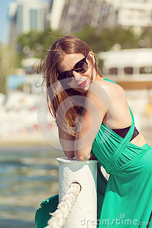 Free Beautiful Girl At The Beach Royalty Free Stock Photos - 55227298