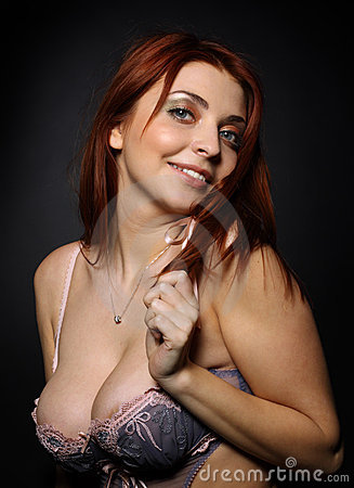 The beautiful girl with big breast