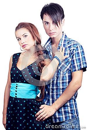 Beautiful girl with boy