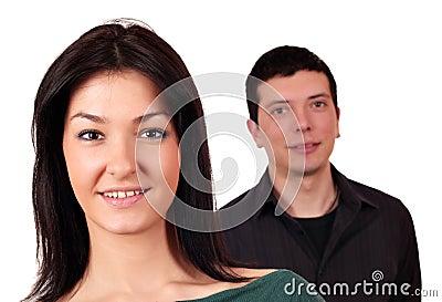 Beautiful girl and boy couple