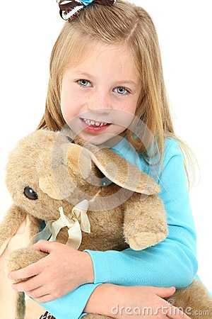 Beautiful Girl with Bunny