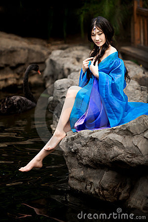 Beautiful girl in Chinese ancient dress