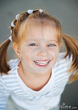 Beautiful girl close-up