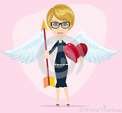 Free Beautiful Girl Cupid, Vector Illustration Stock Photo - 51525940