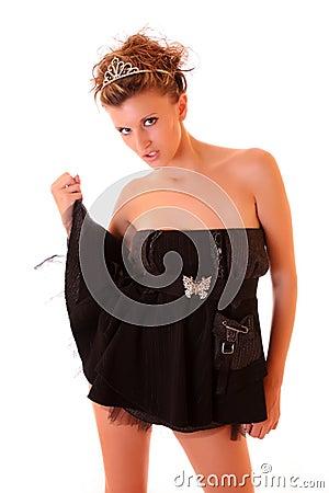 beautiful girl with diadem
