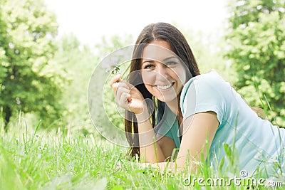 Beautiful girl enjoy the nature