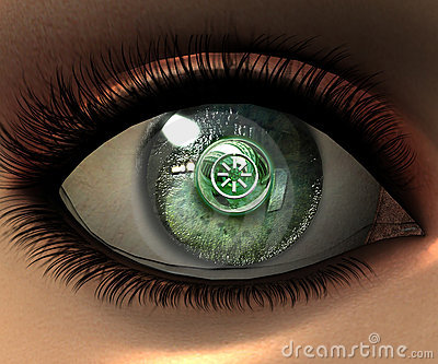 Beautiful girl eye