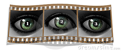 Beautiful girl eye in 3D