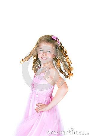 The beautiful girl with a fair hair