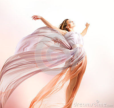 Free Beautiful Girl Flying Royalty Free Stock Photography - 26968877