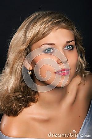 Beautiful girl with  good skin