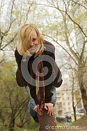 Beautiful girl hase fun