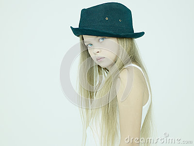 Beautiful girl in hat