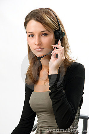 Beautiful girl with headset