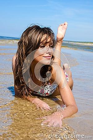 Free Beautiful Girl In A Bikini Royalty Free Stock Photos - 14690278