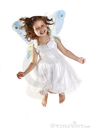 Free Beautiful Girl In A Fairy Costume With Butterfly W Stock Photography - 10565252