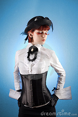 Free Beautiful Girl In Victorian Style Clothes Royalty Free Stock Image - 10727106
