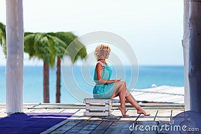Beautiful girl near the seaside
