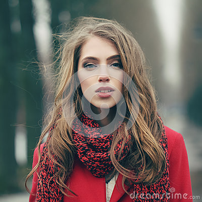 Free Beautiful Girl On Cold Windy Day Stock Photos - 51223093