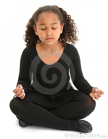 Free Beautiful Girl On Floor Meditating Stock Photo - 428750