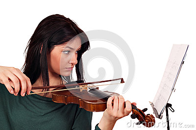 Beautiful girl play violin