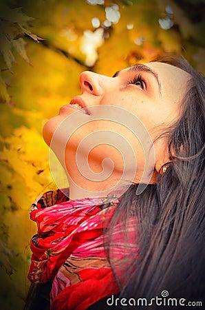 Free Beautiful Girl Portrait, Autumn Background Stock Photos - 27890763