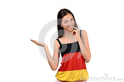 Germany Flag With Girl