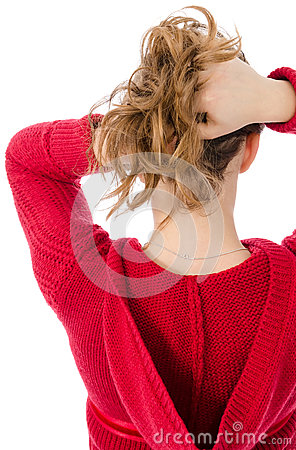 Beautiful girl s neck