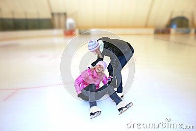 Beautiful girl  on skates