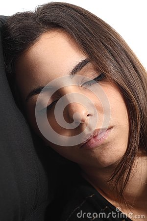 Beautiful girl sleeping portrait