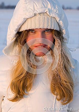 Beautiful Girl in Snow