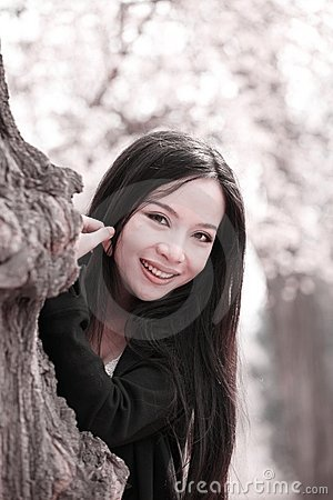Beautiful girl in spring