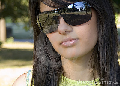 Beautiful girl with sunglasses