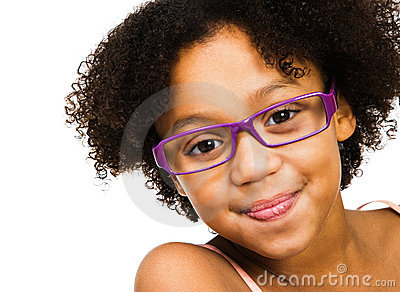 Stock Images of Woman standing indoors wearing eyeglasses