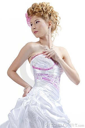 Beautiful girl in wedding dress