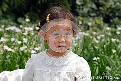 Beautiful girl in white