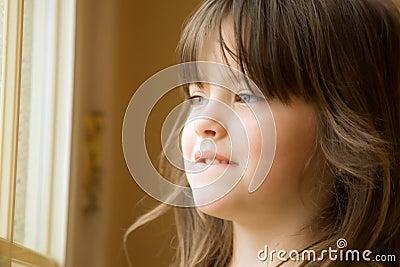 Beautiful Girl at window