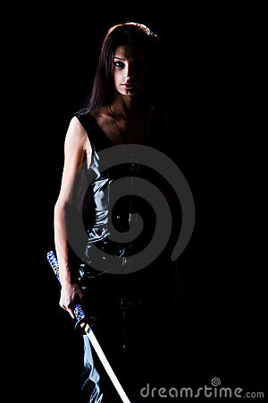 Free Beautiful Girl With A Sword Stock Photo - 11152370