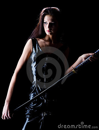Free Beautiful Girl With A Sword Stock Image - 8608181