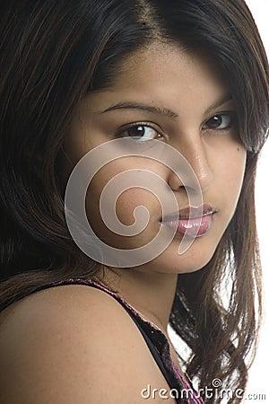 Free Beautiful Girl With Big Dark Eyes Royalty Free Stock Photos - 373868