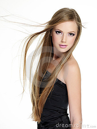 Free Beautiful  Girl With Long  Hair Stock Image - 23568321