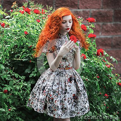 Free Beautiful Girl With Red Hair Royalty Free Stock Photography - 106004387